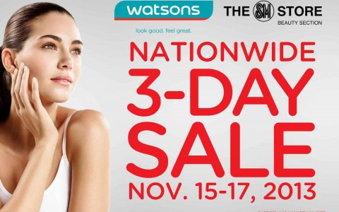 Watsons Nationwide 3-Day Sale November 2013
