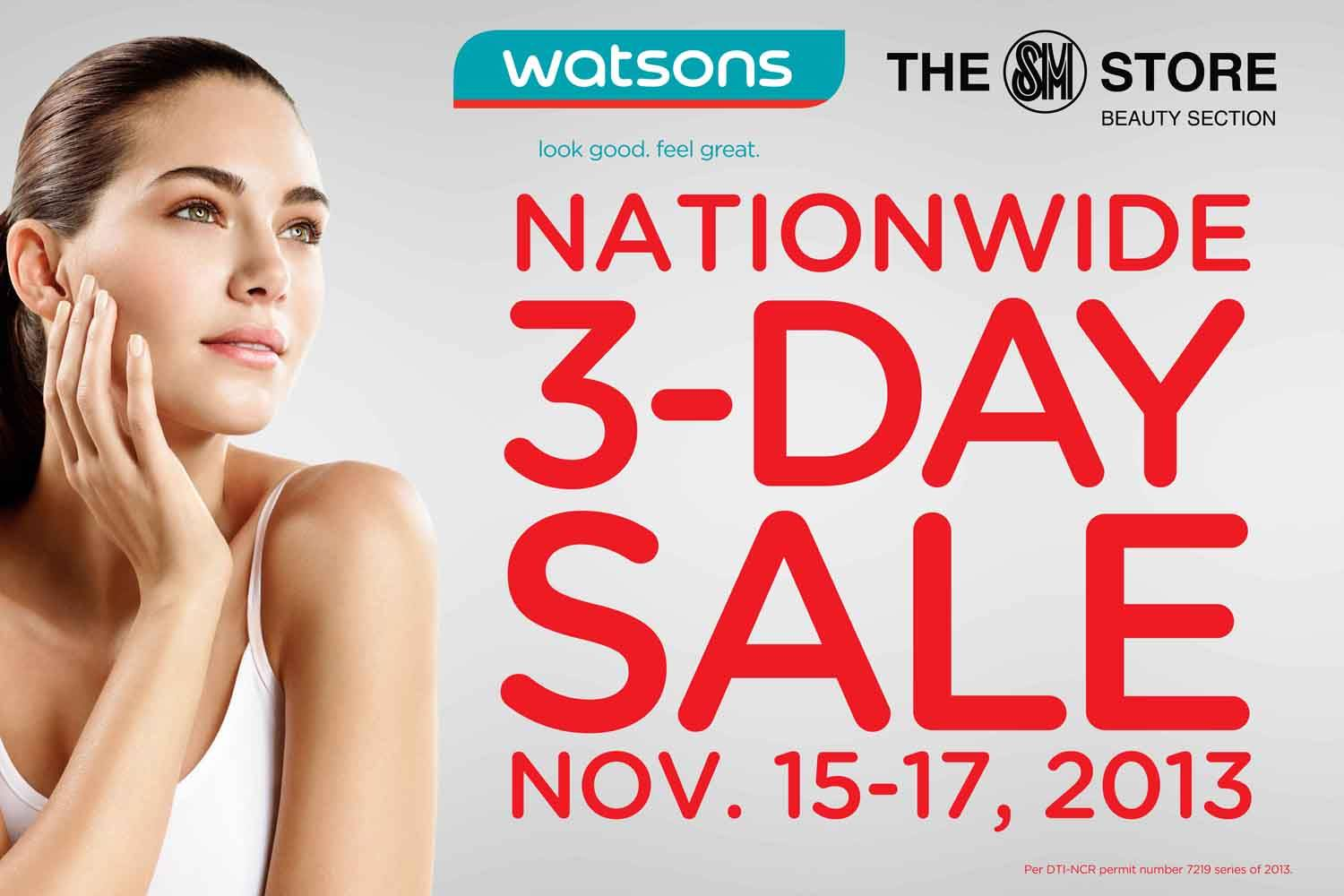 Watsons Nationwide Sale November 2013