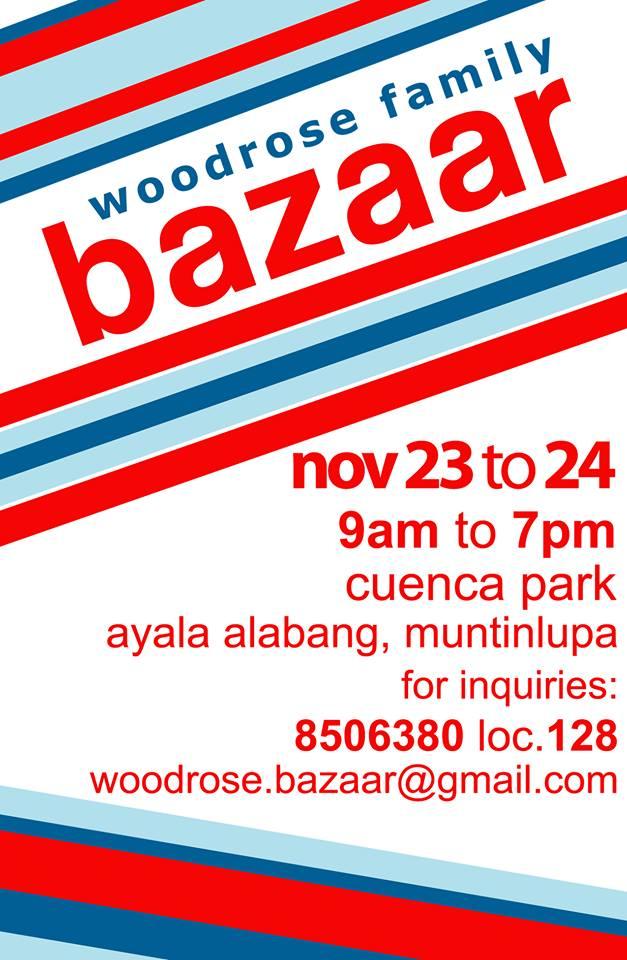 Woodrose Family Bazaar @ Cuenca Park Ayala Alabang November 2013