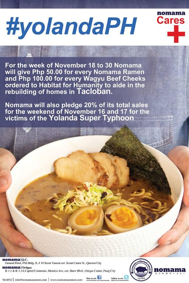 Yolanda Action Weekend - Nomama Ramen November 2013