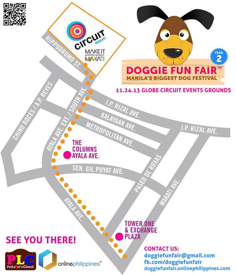 Doggie Fun Fair Location Map