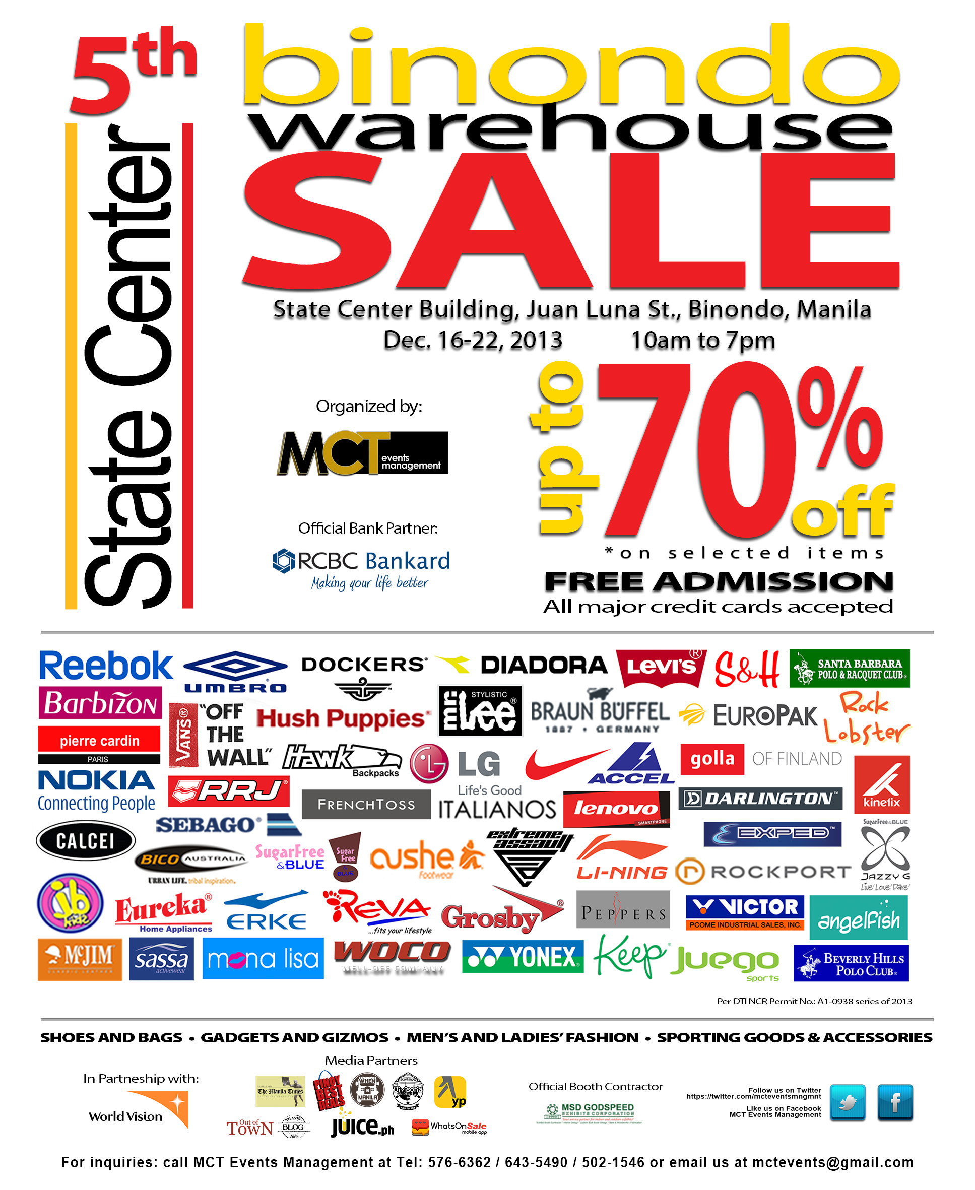5th Binondo Warehouse Sale @ State Center Investment Building December 2013