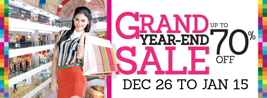 Araneta Center Grand Year End Sale December 2013 - January 2014