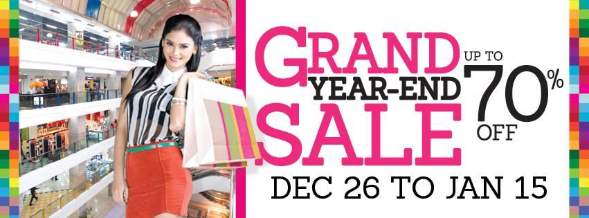Araneta Center Grand Year End Sale December 2013 - January 2014