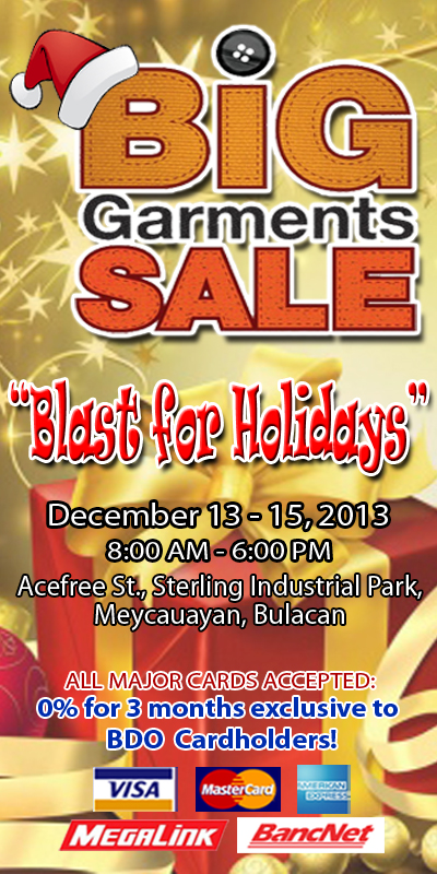 Big Garments Sale December 2013