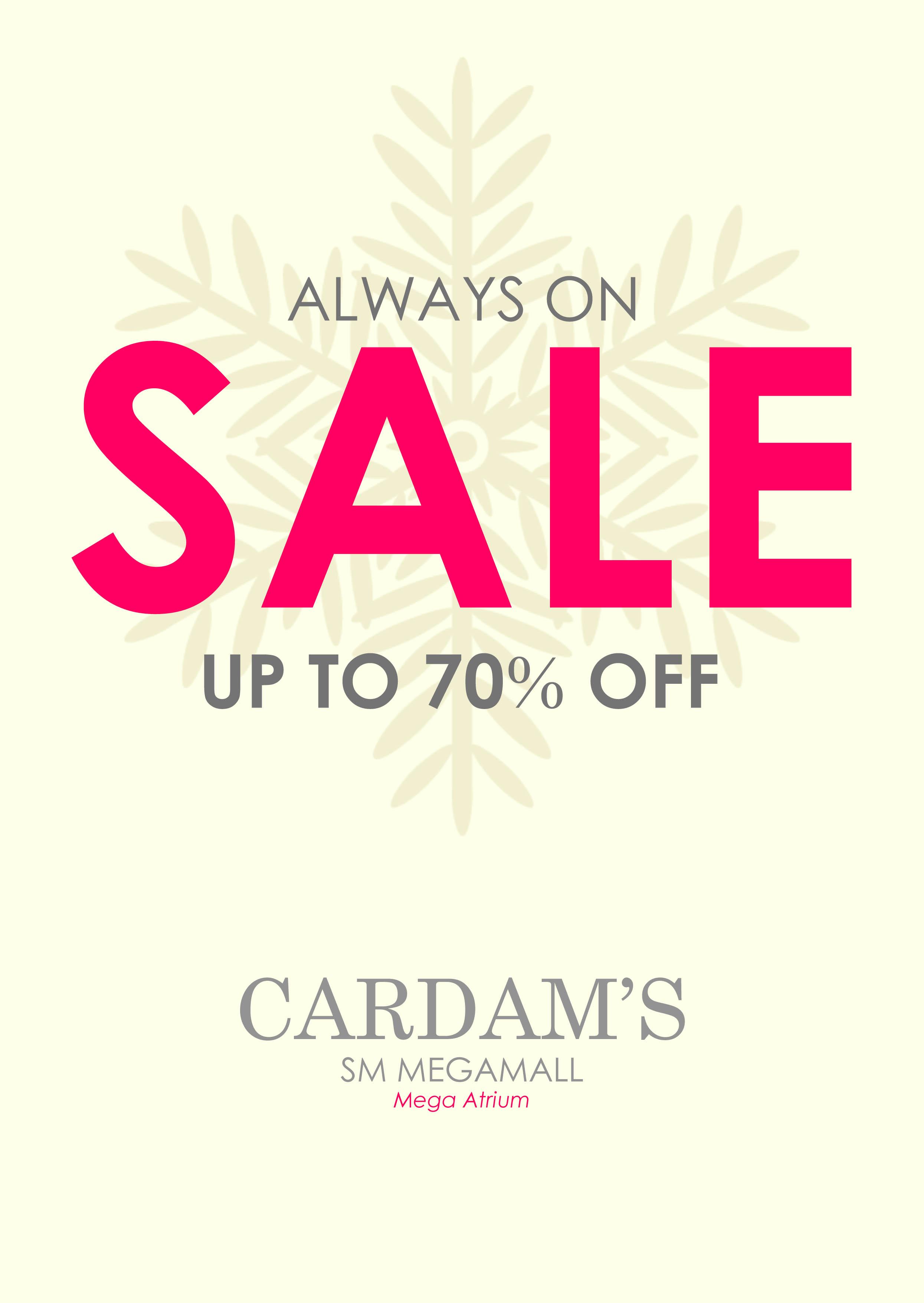 Cardam's Shoes Sale @ SM Megamall December 2013