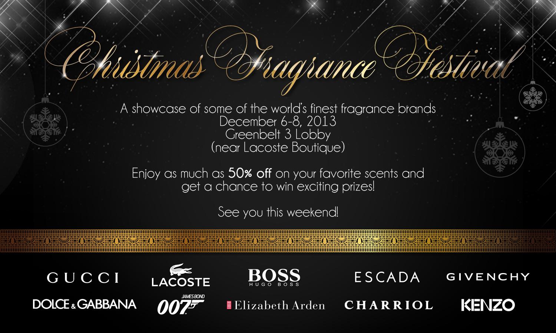 Christmas Fragrance Festival @ Greenbelt 3 December 2013