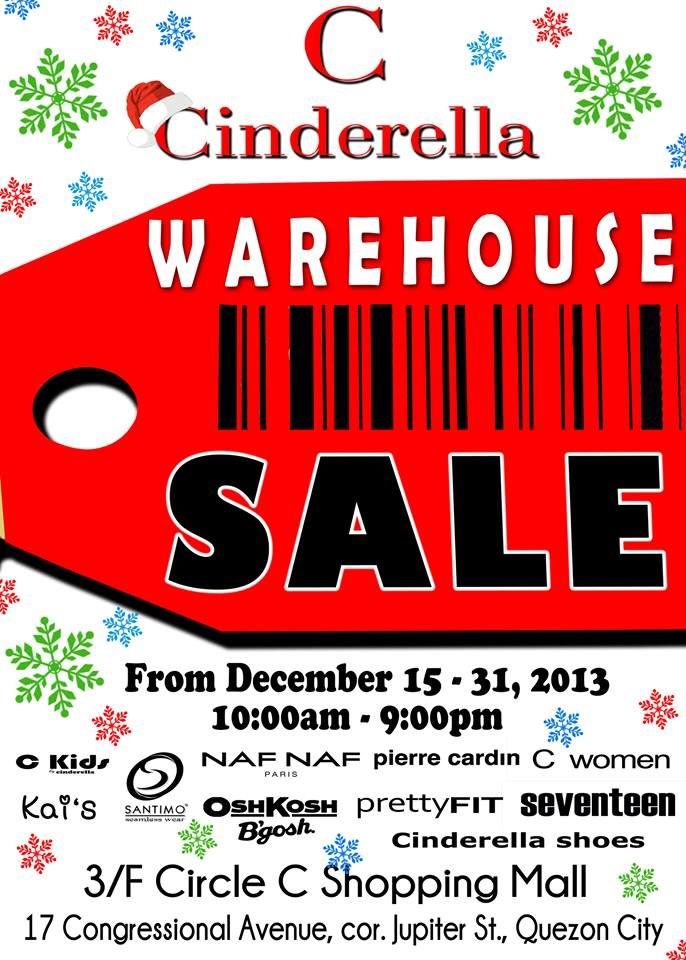 Cinderella Warehouse Sale @ Circle C Shopping Mall December 2013