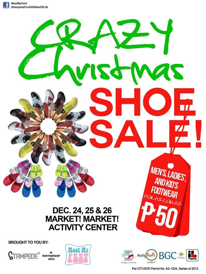 Crazy Christmas Shoe Sale @ Market Market December 2013