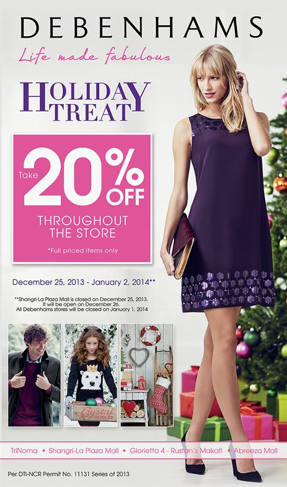 Debenhams Holiday Treat December 2013 - January 2014