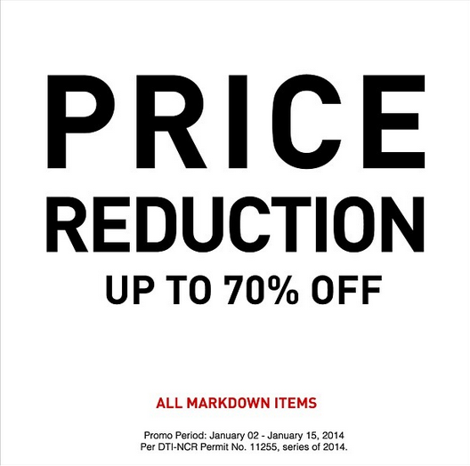 Forever 21 Further Reductions January 2014