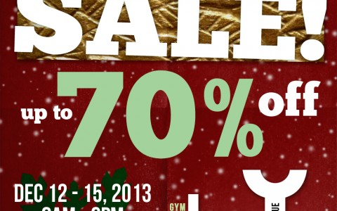 Jag & Lee Christmas Sale @ UP Diliman December 2013