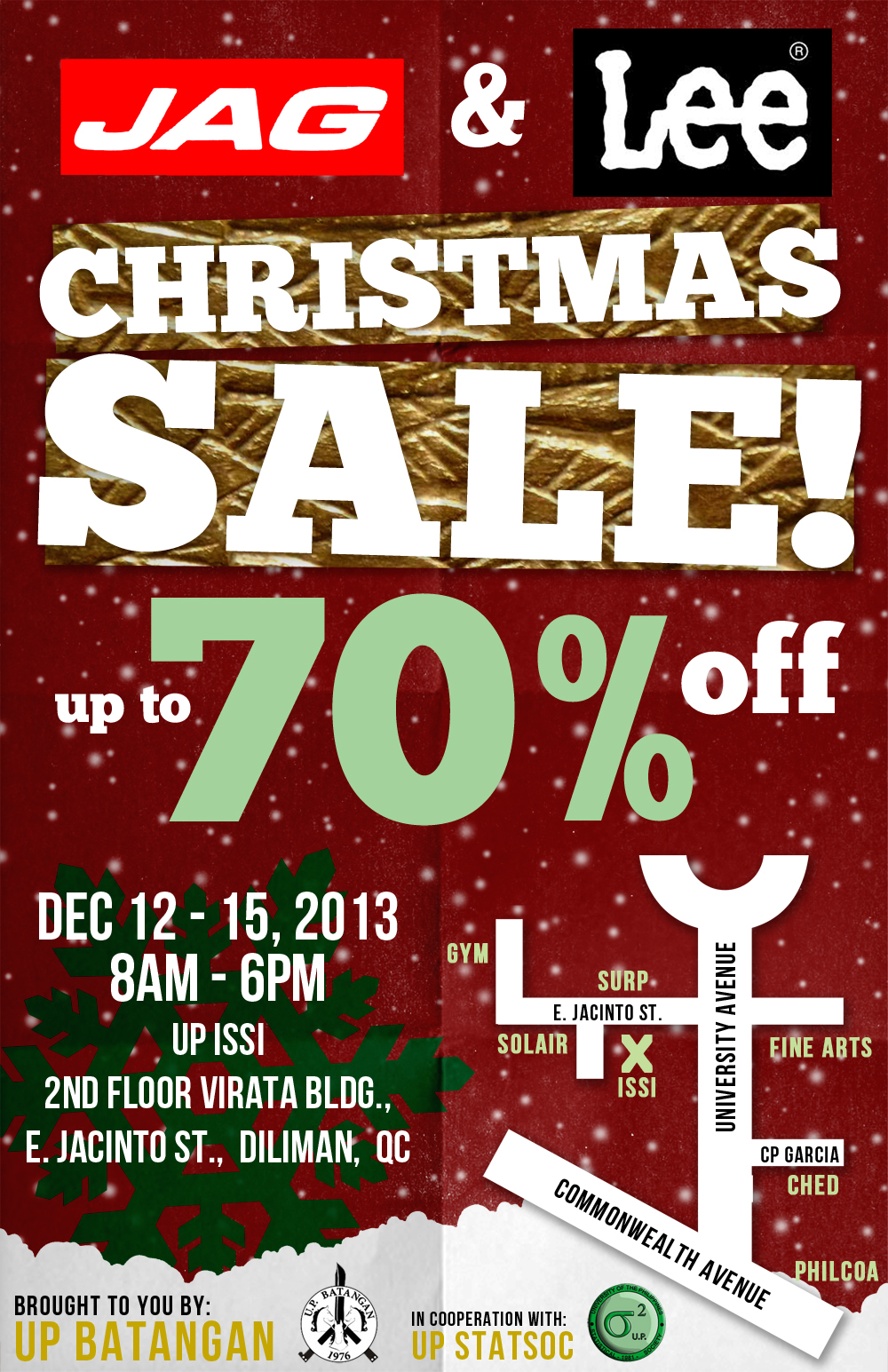 Jag & Lee Christmas Sale @ UP Diliman December 2013
