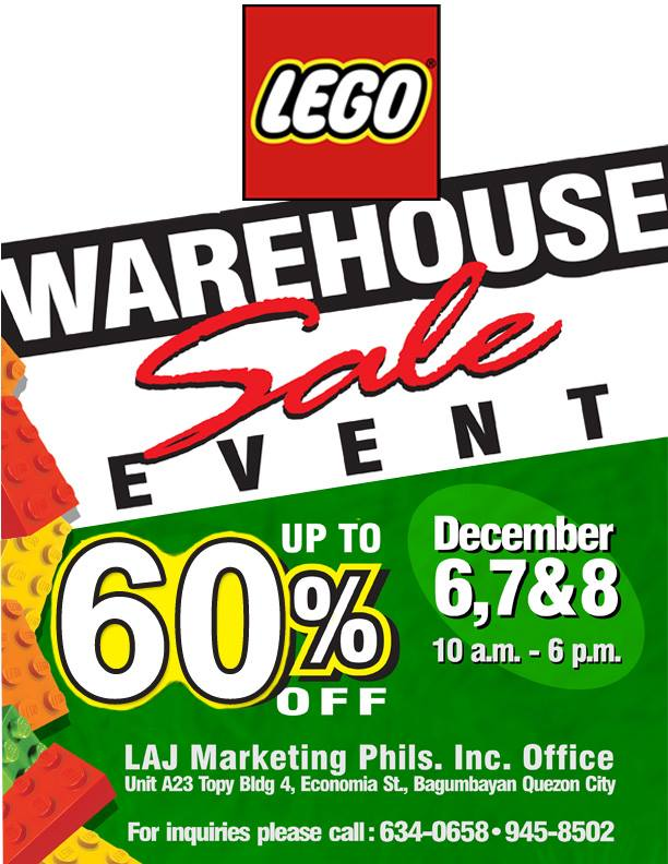 Lego Warehouse Sale @ Topys Place Libis December 2013
