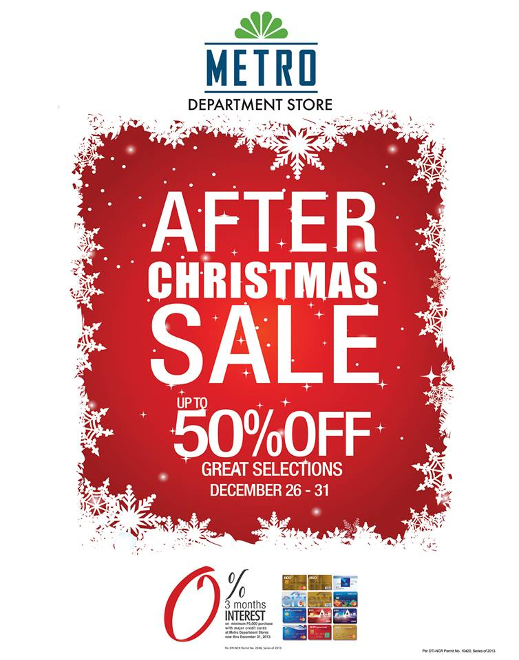 Metro Department Store After Christmas Sale December 2013
