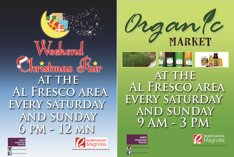 Organic Market & Weekend Christmas Fair @ Robinsons Magnolia December 2013