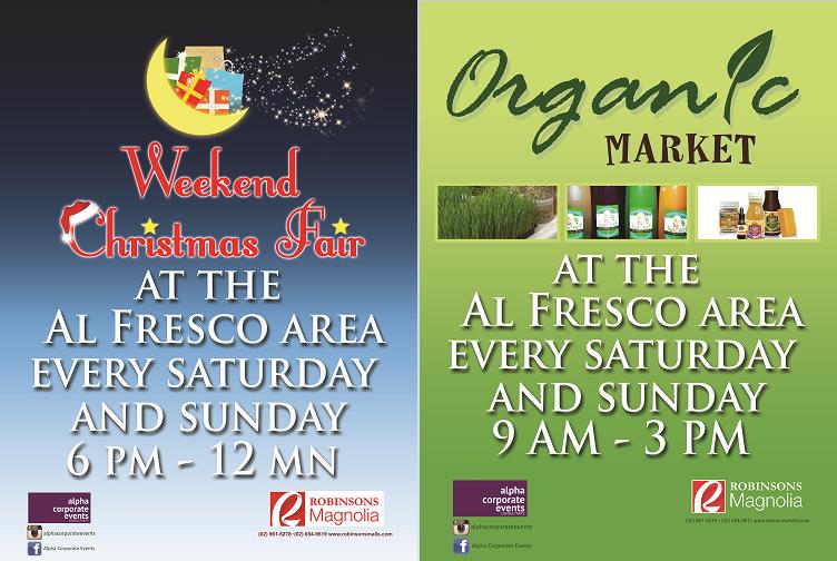 Organic Market & Weekend Christmas Fair @ Robinsons Magnolia December 2013