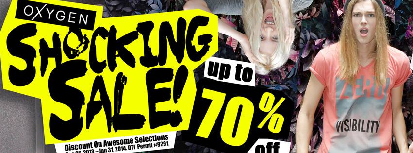 Oxygen Shocking Sale December 2013 - January 2014