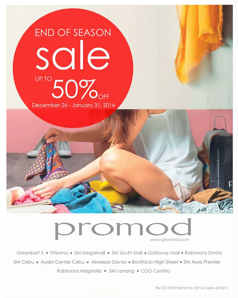 Promod End of Season Sale December 2013 - January 2014