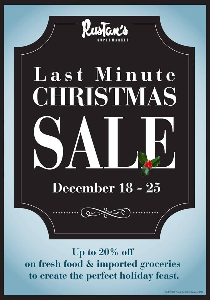 Rustan's Supermarket Christmas Sale December 2013