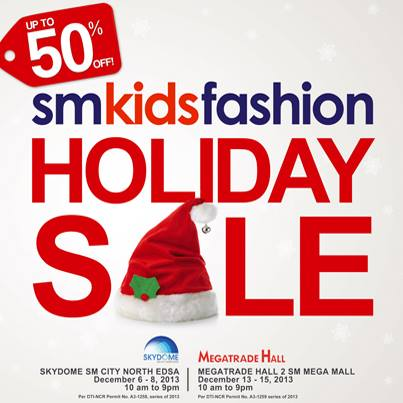 SM Kids Fashion Holiday Sale December 2013