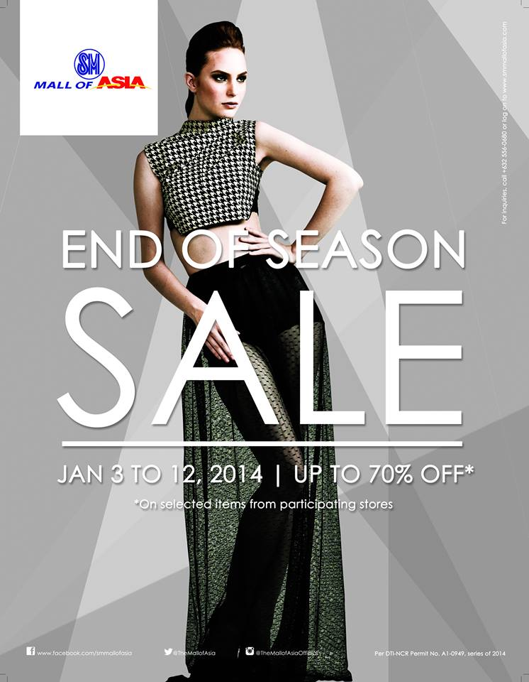 SM Mall of Asia End of Season Sale January 2014