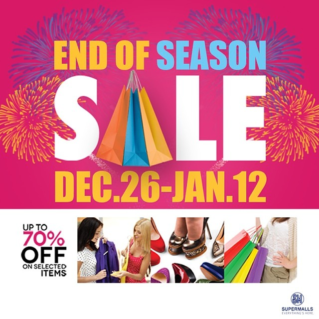 SM Supermalls End of Season Sale December 2013 - January 2014