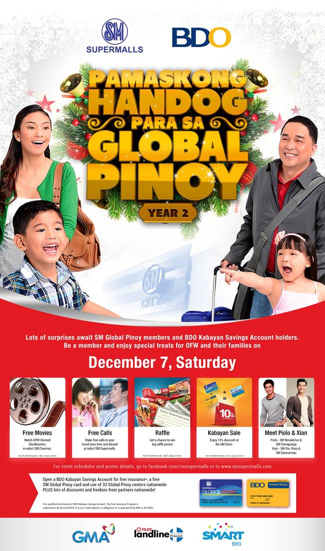 SM Supermalls Pamaskong Handog Para Sa Global Pinoy December 2013