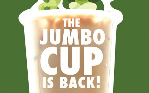 Serenitea Jumbo Drinks Free Upgrade December 2013