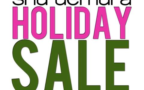 Shu Uemura Holiday Sale December 2013