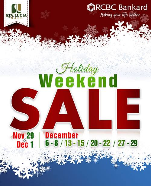 Sta. Lucia Mall Holiday Weekend Sale December 2013
