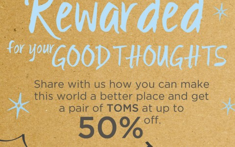 TOMS Holiday Sale December 2013