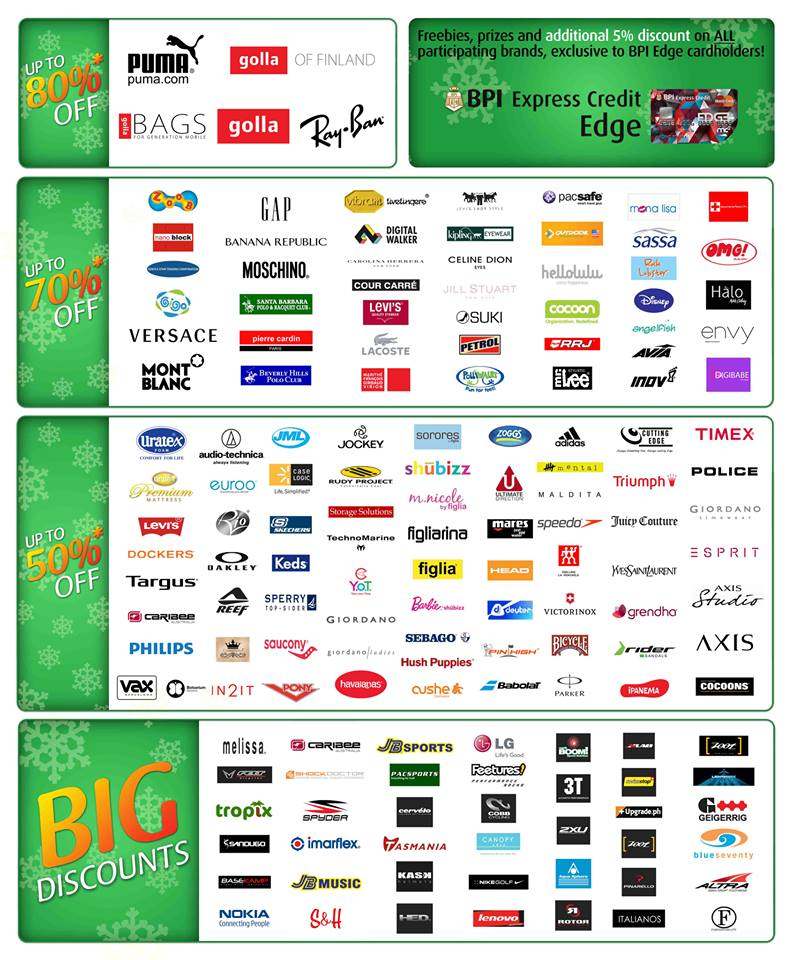 The Big Holiday Outlet Sale 2013 Participating Brands