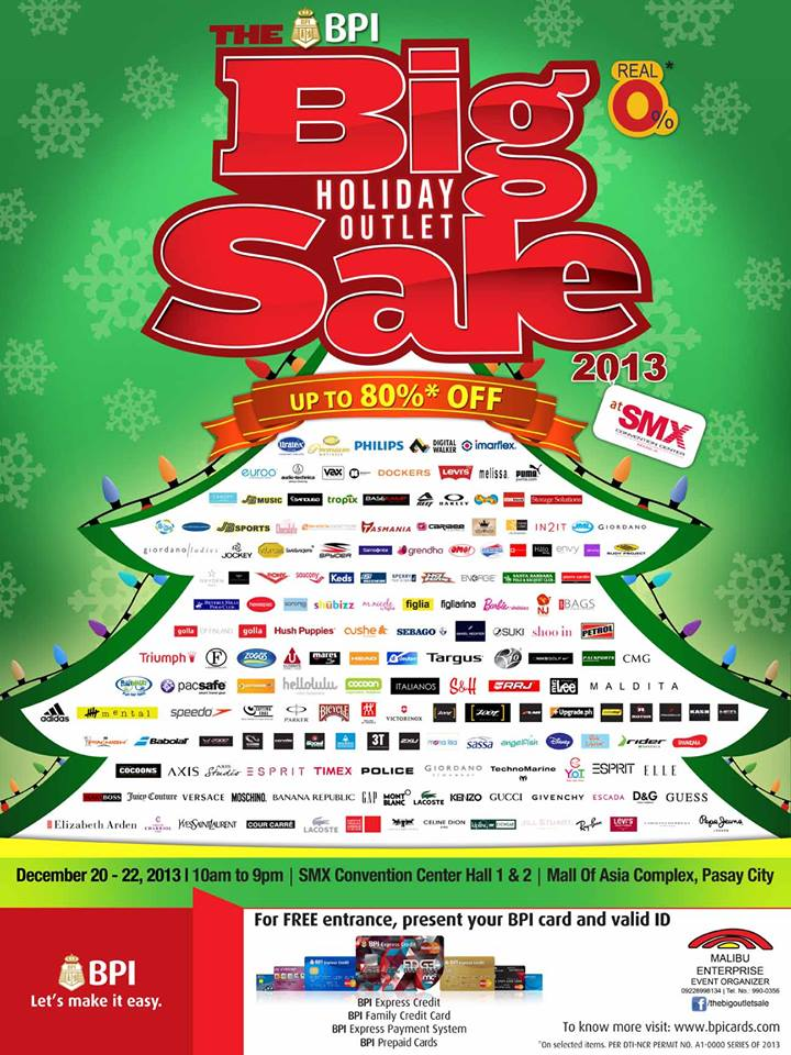 The Big Holiday Outlet Sale @ SMX Convention Center December 2013