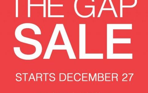 The Gap End of Season Sale December 2013 - January 2014