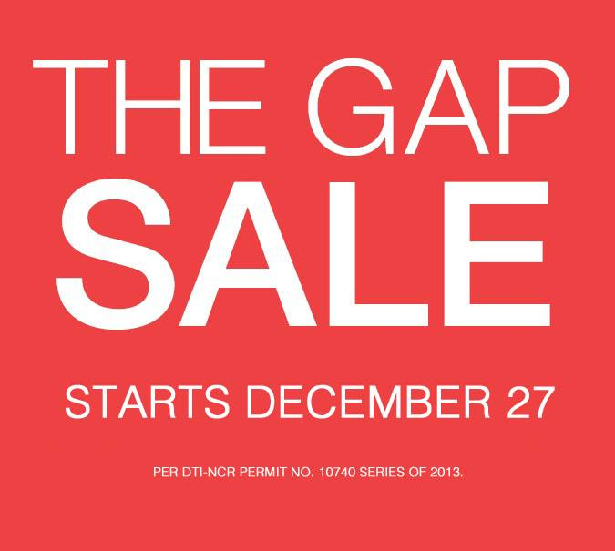 The Gap End of Season Sale December 2013 - January 2014