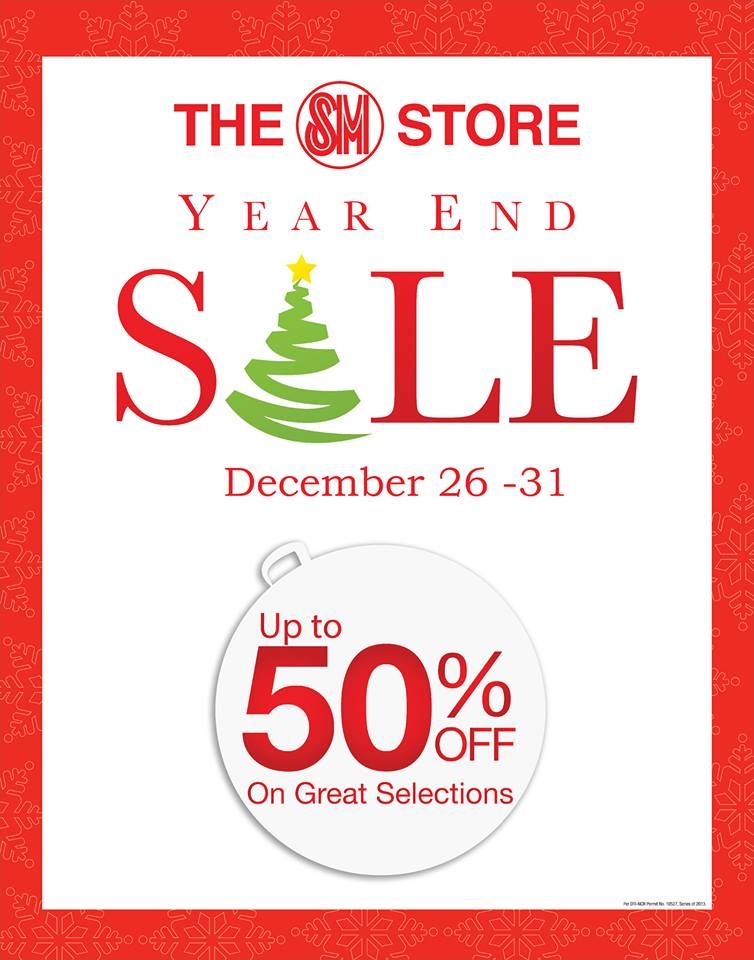 The SM Store Year End Sale December 2013
