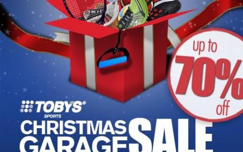 Toby's Sports Christmas Garage Sale at Quorum Center December 2013