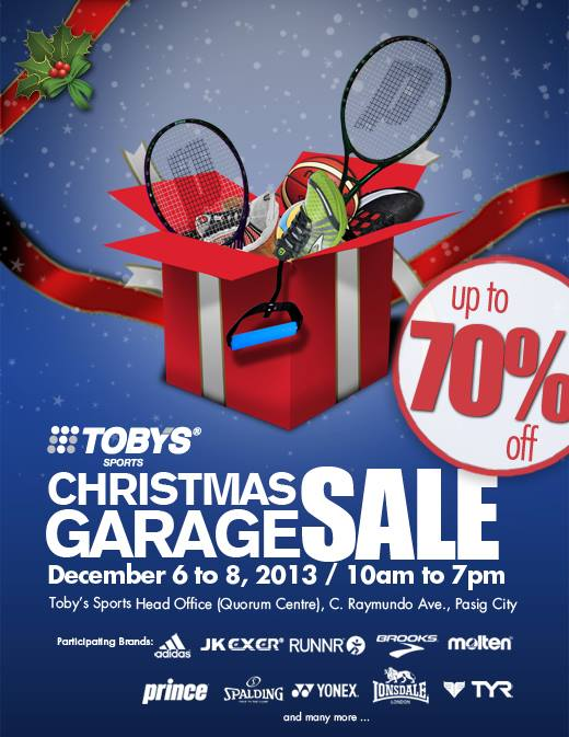 Toby's Sports Christmas Garage Sale at Quorum Center December 2013