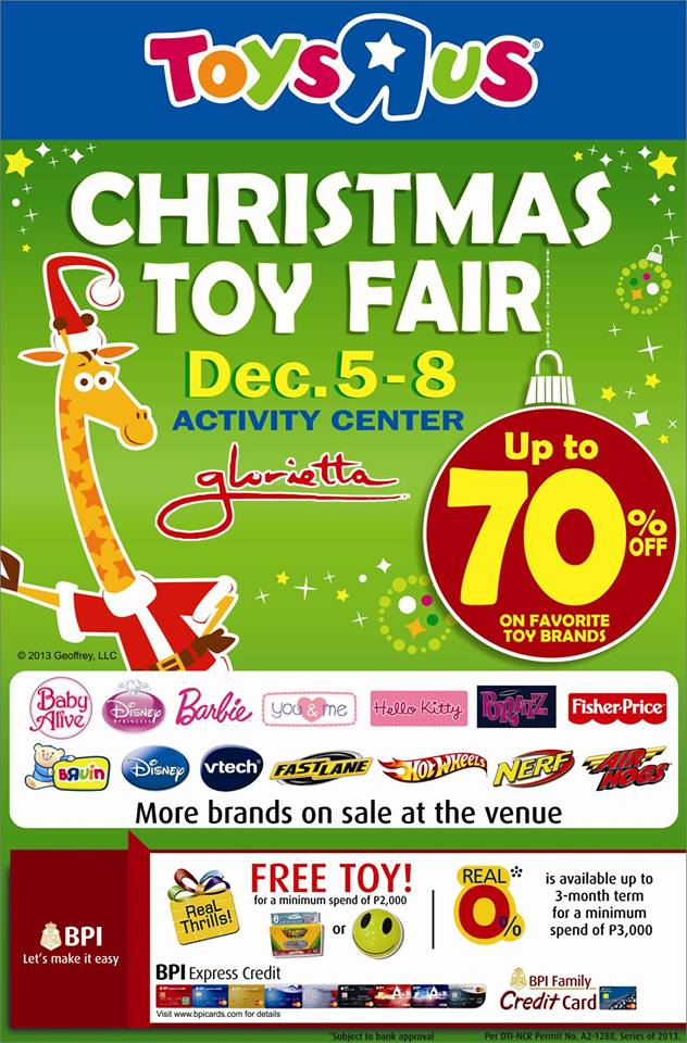 Toys R Us Christmas Toy Fair @ Glorietta December 2013