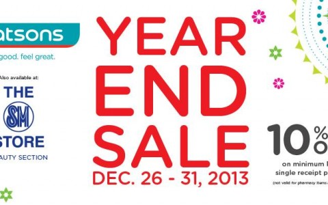 Watsons Year-End Sale December 2013