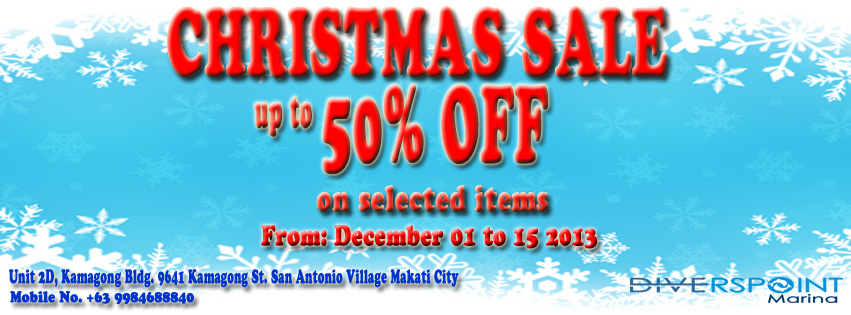 Diverspoint Marina Co. Christmas Sale December 2013