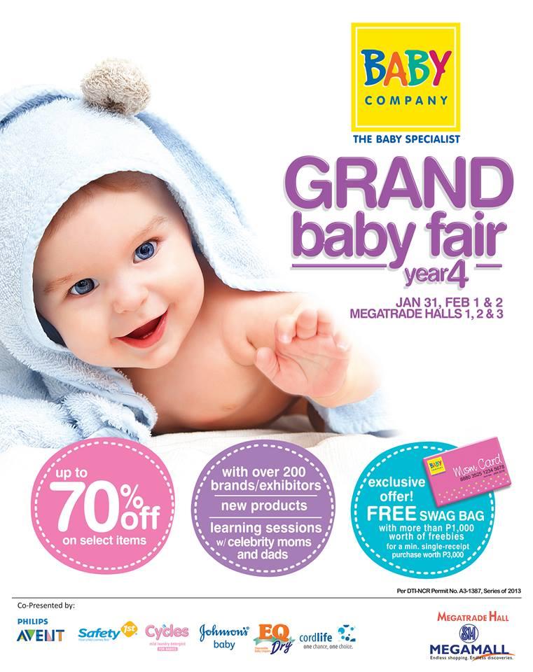 Baby Company Grand Baby Fair @ SM Megatrade Hall  January - February 2014