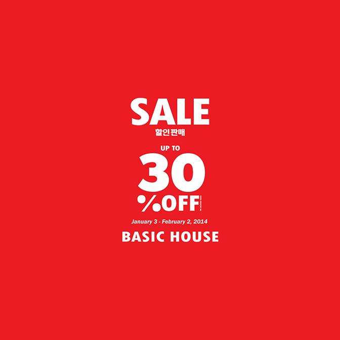 Basic House End of Season Sale January - February 2014