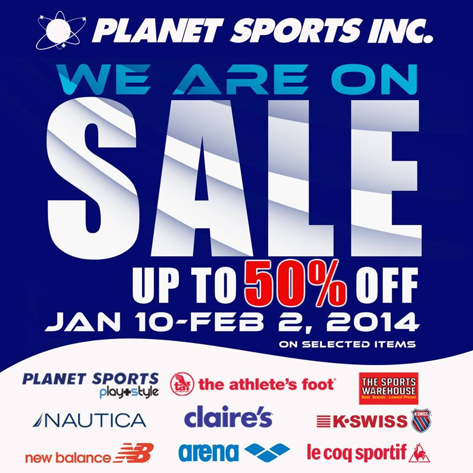 Planet Sports 'We Are ON SALE' – January 10 – February 2, 2014