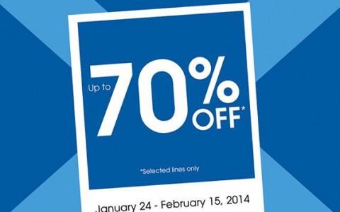 Debenhams Blue Cross Sale January - February 2014