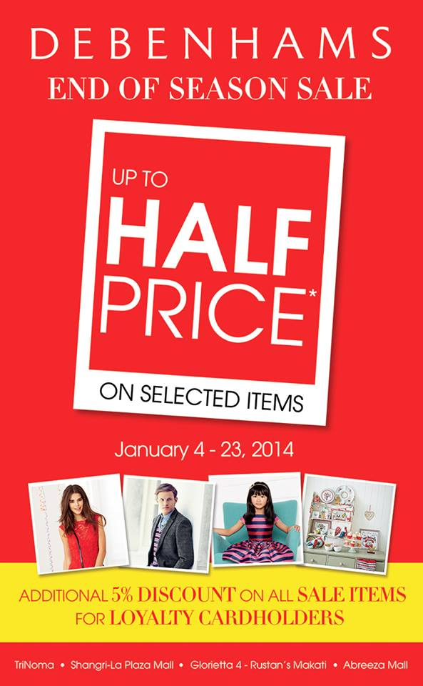 Debenhams End of Season Sale January 2014
