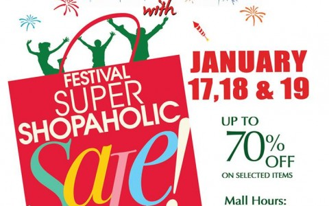 Festival Supermall Super Shopaholic Sale January 2014