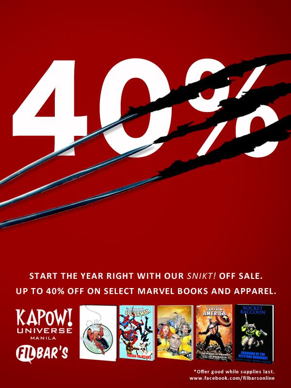 Filbar's and Kapow! Universe Sale January 2014