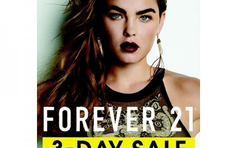 Forever 21 3-Day Sale January - February 2014